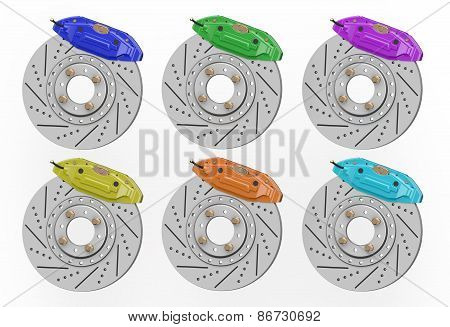 Car Disc Brake And Caliper