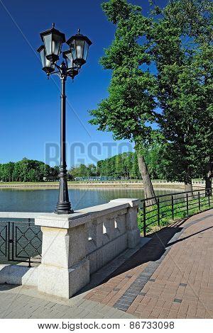 Embankment Of Lake Verhnee (before Oberteich).  Kaliningrad, Russia
