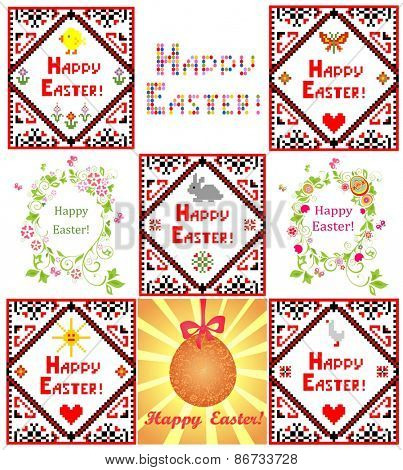 Easter greetings with embroidery
