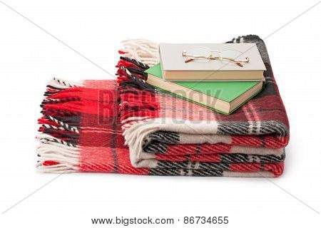 Checkered Blanket Books And Glasses