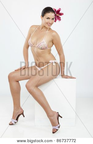 Nice woman in swimming suit