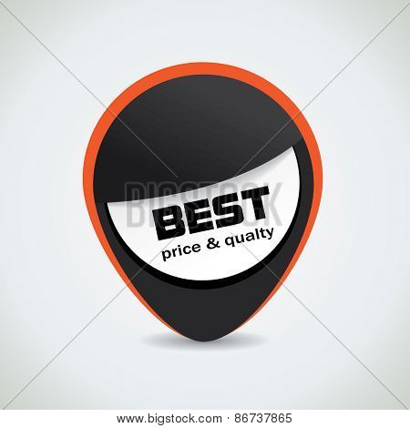 Best price and quality black tag with catchy orange outline