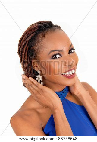 Smiling African Woman Portrait.