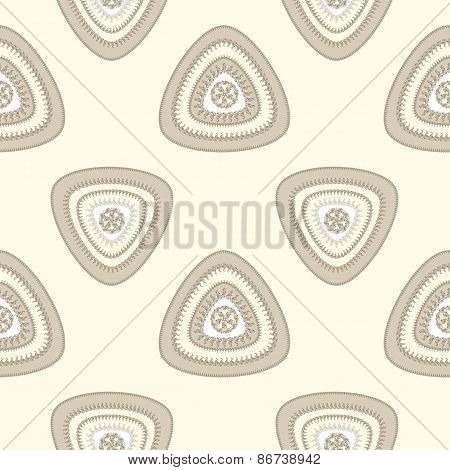 Abstract Seamless pattern with triangle in beige