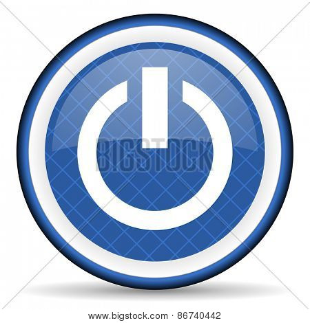 power blue icon on off sign