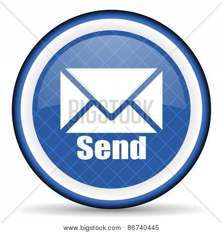 send blue icon post sign