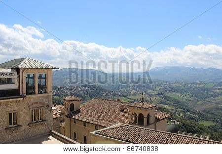 View of the mountain district in San Marino