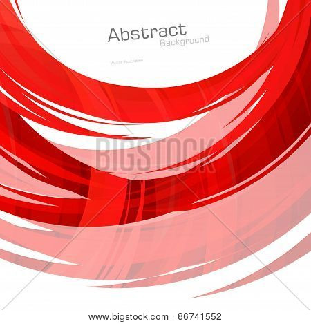 Abstract Red Lines Background. Vector Illustration