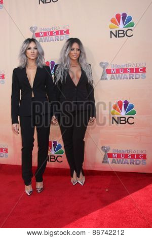 LOS ANGELES - MAR 29:  Shannon Bex, Aubrey O'Day at the 2015 iHeartRadio Music Awards at the Shrine Auditorium on March 29, 2015 in Los Angeles, CA