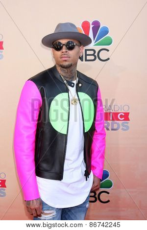 LOS ANGELES - MAR 29:  Chris Brown at the 2015 iHeartRadio Music Awards at the Shrine Auditorium on March 29, 2015 in Los Angeles, CA