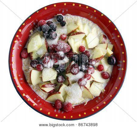 Ceramic Plate With Porridge