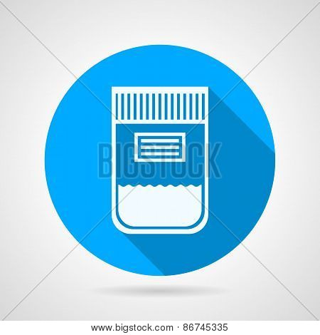 Flat round vector icon for urine sample container