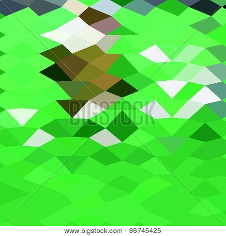 Emerald Green Abstract Low Polygon Background