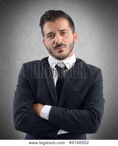 Businessman demoralized