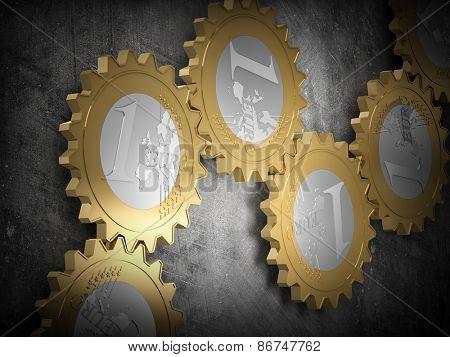 render of euro gear machine part