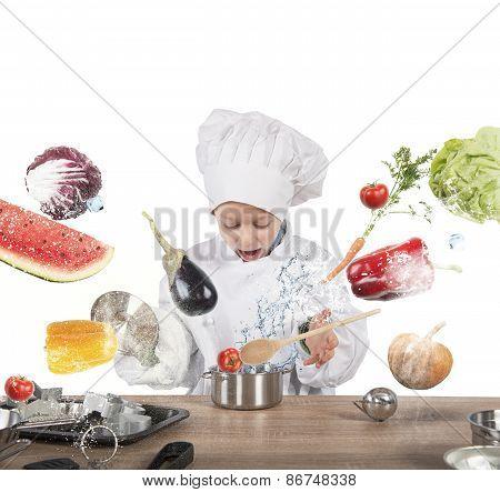 Little child chef