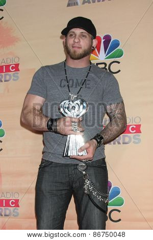 LOS ANGELES - MAR 29:  Brantley Gilbert at the 2015 iHeartRadio Music Awards Press Room at the Shrine Auditorium on March 29, 2015 in Los Angeles, CA