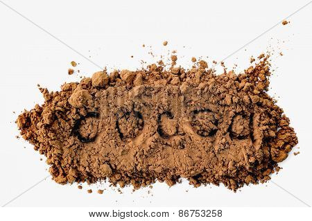 Cocoa Powder With The Inscription Cocoa