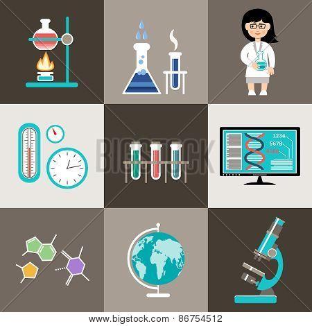 Science Set. Infographic.
