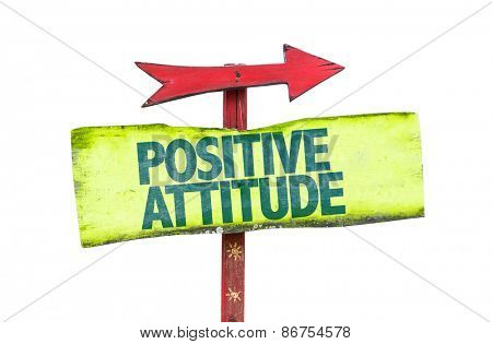 Positive Attitude sign isolated on white