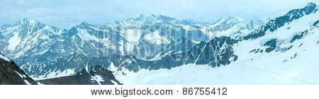 Alp Mountain Winter Panorama (austria)