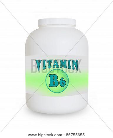 Vitamin B6 Container