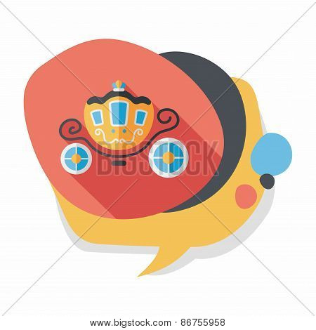 Wedding Carriage Flat Icon With Long Shadow,eps10