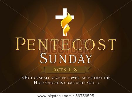 Pentecost sunday card