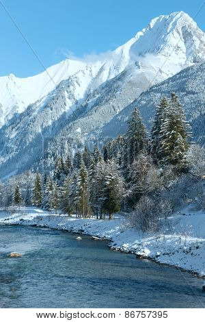 Winter Mountain River (austria, Tirol)