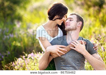Portrait Of A Beautiful Couple In Love