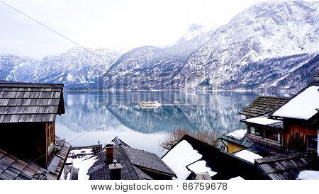 Lake, Mountain, Village And Life In Hallstatt