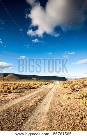 Karoo desert gravel road