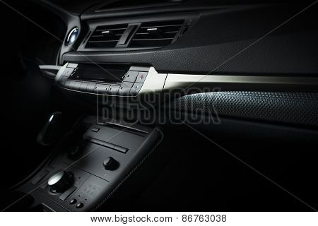 Modern electric car interior