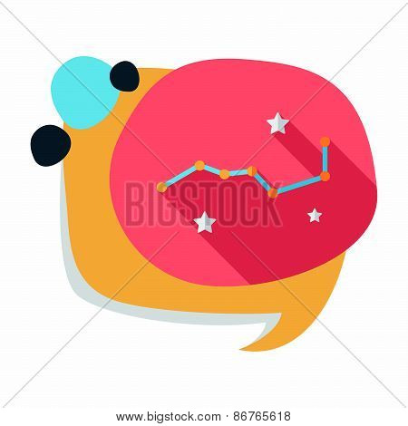 Space Dipper Flat Icon With Long Shadow,eps10