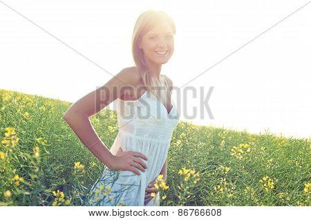 Woman enjoying summertime
