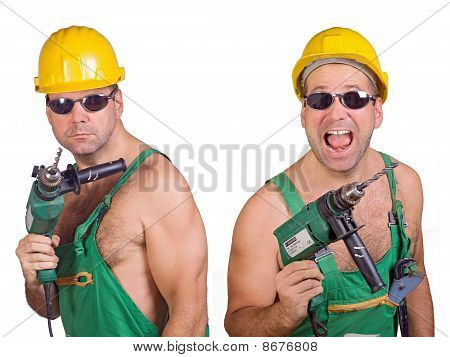 two serviceman