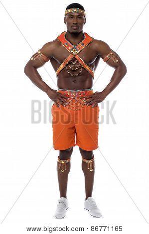 Confident Male Samba Dancer.