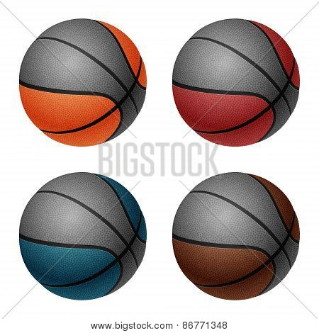 Vector basketball set.