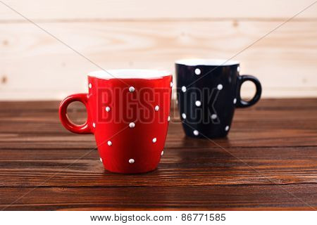 Two polka dots cups