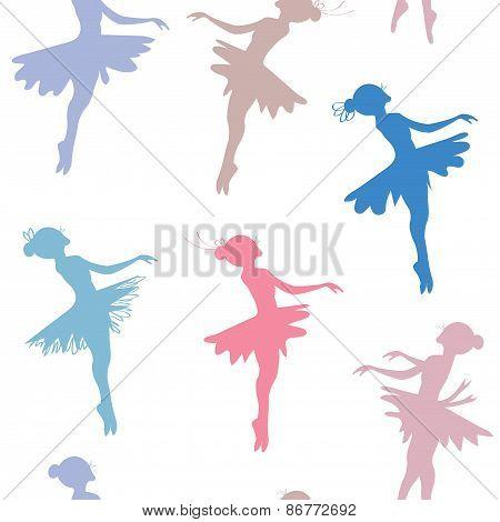 Ballerina seamless pattern