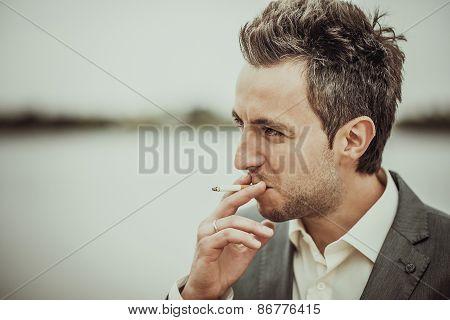 Smoking Sigarette Men