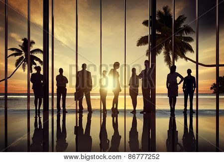 Business People Corporate Beach Summer Office Concept