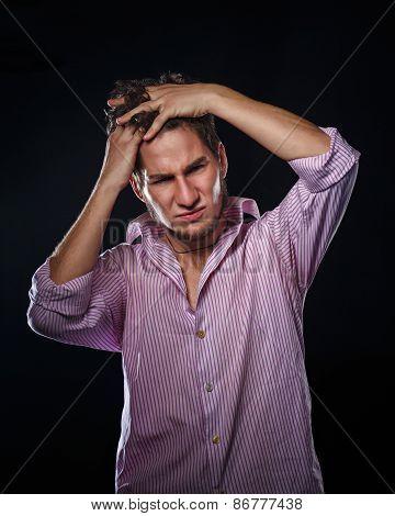 Man Combing His Hair Hands
