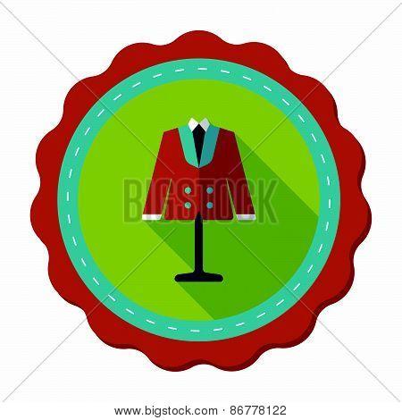 Wedding Groom Suit Flat Icon With Long Shadow,eps10