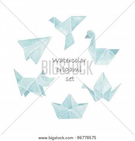 Watercolor origami set