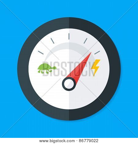 Speedometer Flat Stylized