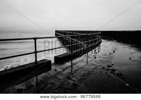 Shoreham pier in winter