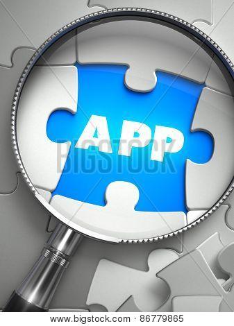 APP - Missing Puzzle Piece through Magnifier.