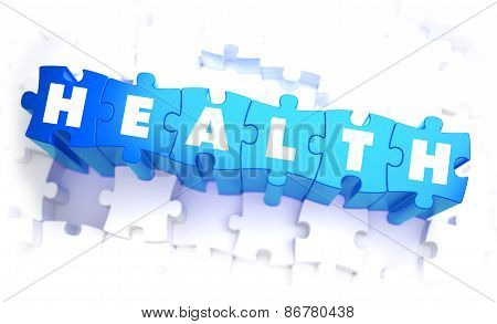 Health - White Word on Blue Puzzles.