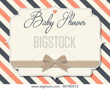 Customizable Baby Shower Invitation In Retro Style